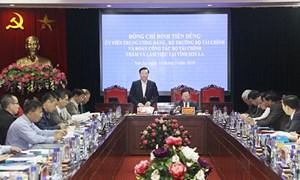 Bộ trưởng Bộ Tài chính Đinh Tiến Dũng làm việc tại tỉnh Sơn La