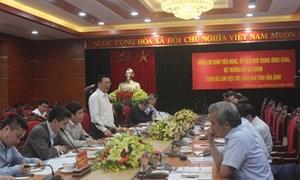 Bộ trưởng Bộ Tài chính Đinh Tiến Dũng làm việc tại tỉnh Hòa Bình