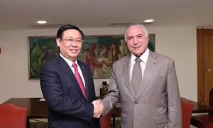 Phó Thủ tướng Vương Đình Huệ thăm và làm việc tại Brazil