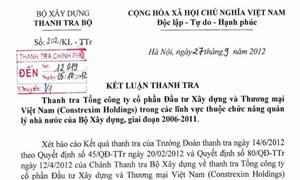 Hàng loạt sai phạm tại Constrexim Holdings