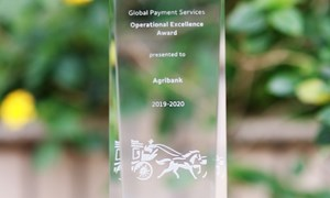 Agribank tiếp tục nhận giải thưởng Chất lượng thanh toán quốc tế xuất sắc