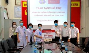 Agribank hỗ trợ Bệnh viện Bệnh nhiệt đới Trung ương phòng, chống dịch bệnh Covid-19