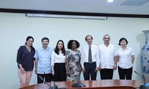 Tham tán thương mại Đại sứ quán Cuba tại Việt Nam thăm và làm việc với Kho bạc Nhà nước Việt Nam
