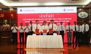 Agribank và Tổng Công ty Điện lực Miền Nam ký kết thỏa thuận hợp tác toàn diện