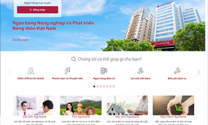 Agribank chính thức ra mắt giao diện website mới