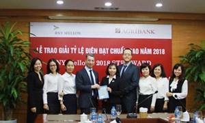 Tỷ lệ điện thanh toán chuẩn 98,88%, Agribank đạt giải thưởng từ ngân hàng BNY Mellon