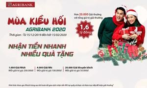Mùa kiều hối Agribank 2020, nhận tiền nhanh – rinh nhiều quà tặng