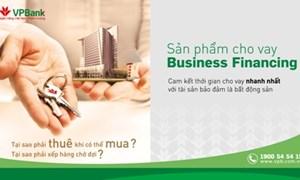VPBank cho vay đến 90% giá trị bất động sản đảm bảo
