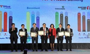 VietinBank đạt Top 5 ngân hàng có dịch vụ Mobile Banking được yêu thích nhất