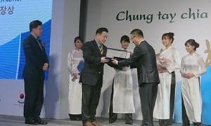 """Trao giải """"cống hiến xã hội"""" cho 8 doanh nghiệp Hàn Quốc tại Việt Nam"""