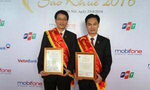 Agribank nhận hai danh hiệu giải thưởng Sao Khuê 2016