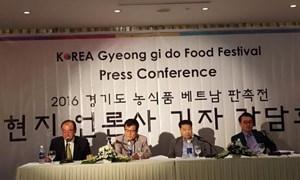 Hơn 140 nông sản thực phẩm vùng Gyeonggido (Hàn Quốc) giới thiệu tại Việt Nam