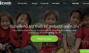 Bizweb hỗ trợ xây dựng website miễn phí