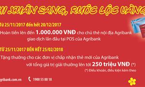 Vui xuân sang, rước lộc vàng cùng dịch vụ thẻ Agribank