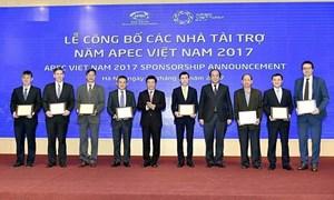 Tài trợ cho Năm APEC 2017 lập mốc kỷ lục mới