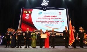Viện Đại học Mở Hà Nội đón nhận Huân chương Lao động hạng Nhì