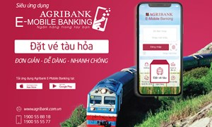 Đặt vé tàu hỏa trực tuyến trên Agribank E-Mobile Banking