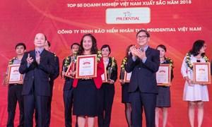Prudential dẫn đầu các doanh nghiệp bảo hiểm nhân thọ tại Việt Nam