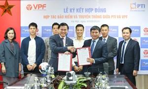 PTI và VPF ký kết hợp tác bảo hiểm giải bóng đá chuyên nghiệp quốc gia năm 2020