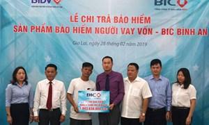 BIC chi trả hơn 1 tỷ đồng cho khách hàng vay vốn tại Gia Lai
