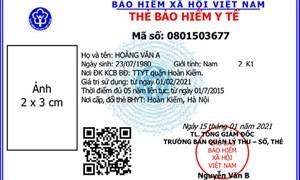 Ngành BHXH Việt Nam sẵn sàng cấp thẻ bảo hiểm y tế mẫu mới từ ngày 1/4/2021