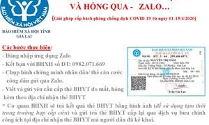 Tiếp nhận hồ sơ cấp lại thẻ BHYT tạm thời qua Zalo trong thời gian cách ly xã hội