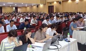Tập huấn công tác thu và kỹ năng phát triển đối tượng tham gia BHXH, BHYT