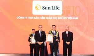 Sun Life Việt Nam được vinh danh Top 10 công ty bảo hiểm nhân thọ uy tín nhất Việt Nam năm 2019