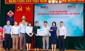 BIC trao hơn 1,5 tỷ đồng quyền lợi bảo hiểm cho khách hàng vay vốn tại Nam Định, Ninh Bình