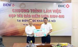 BIC bồi thường hơn 188 triệu đồng quyền lợi bảo hiểm cho Chi nhánh BIDV Ngọc Khánh Hà Nội