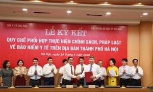 Ký kết Quy chế phối hợp về thực hiện chính sách BHYT