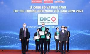 BIC lần thứ 10 được bình chọn Thương hiệu mạnh Việt Nam