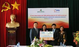 PTI bàn giao phòng học tiếng Anh và trao tặng thiết bị giảng dạy tại Ninh Bình