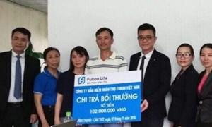 Fubon Life Việt Nam chi trả quyền lợi bảo hiểm cho khách hàng tại An Giang
