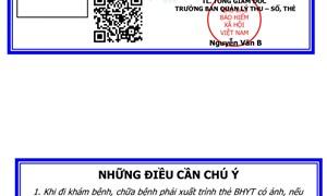 Mẫu thẻ BHYT mới mang lại nhiều tiện ích cho người tham gia