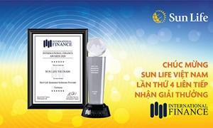 Sun Life Việt Nam lần thứ 4 liên tiếp nhận giải thưởng từ Tạp chí Tài chính Quốc tế