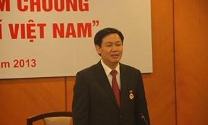 Hội Nhà báo Việt Nam trao Kỷ niệm chương Vì sự nghiệp Báo chí Việt Nam cho Bộ trưởng Vương Đình Huệ và Thứ trưởng thường trực Nguyễn Công Nghiệp