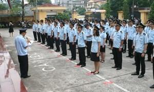 Cục Hải quan TP. Hà Nội tổ chức chào cờ sáng thứ 2 hàng tuần