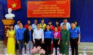 Đoàn Thanh niên PVcomBank tổ chức lễ gắn biển công trình thanh niên tại Sơn La