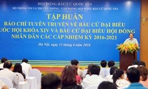 Tập huấn kỹ năng tuyên truyền bầu cử đại biểu Quốc hội khóa XIV