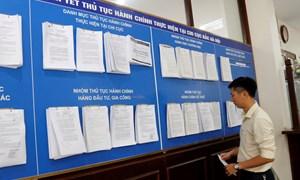 Niêm yết công khai 127 thủ tục hành chính