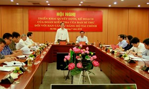 Đoàn kiểm tra của Ban Bí thư làm việc với Ban Cán sự Đảng Bộ Tài chính về triển khai các nghị quyết của Trung ương