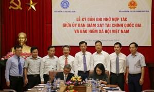 BHXH Việt Nam ký bản ghi nhớ hợp tác với Ủy ban Giám sát Tài chính quốc gia