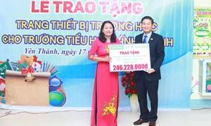 Chubb Life Việt Nam và Quỹ Thiện nguyện Chubb trao tặng thiết bị dạy học tại 6 tỉnh miền Trung
