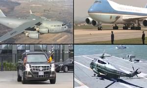 [Video] Những phương tiện thường được ông Trump mang theo khi công du