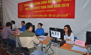 Cục Thuế Hà Nội đã tiếp nhận 70% lượng hồ sơ phải nộp quyết toán thuế