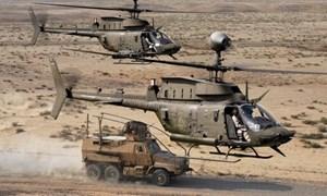 """Hỏa lực khủng khiếp của Trực thăng """"Chiến binh"""" trinh sát OH-58D Kiowa của quân đội Mỹ"""