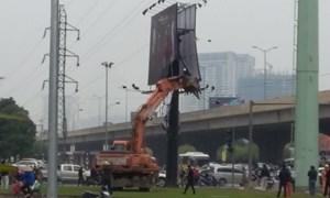 Đề xuất dỡ quảng cáo trái phép tại Hà Nội