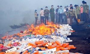 Thuốc lá điếu nhập lậu bị tịch thu: Tái xuất hay tiêu hủy?
