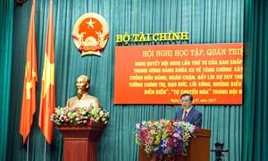 Bộ Tài chính tổ chức Hội nghị trực tuyến học tập, quán triệt và triển khai thực hiện Nghị quyết Trung ương 4 (Khóa XII)
